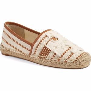 Tory Burch Shaw Espadrille Tan/Brown 10